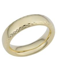 JewelryAffairs - Metallic 14k Yellow Gold Diamond Cut 6mm Wide Wedding Band Ring, Size 5 - Lyst