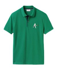Lacoste - Blue Mens Ren Pique Polo In Yucca/navy for Men - Lyst