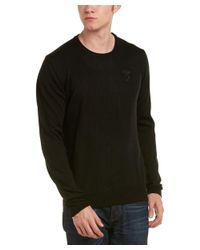 Versace - Black Medusa Knit Crewneck Wool Sweater for Men - Lyst
