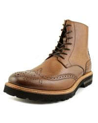 Kenneth Cole - Click Sound Men Round Toe Leather Brown Boot for Men - Lyst