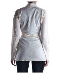 Massimo Rebecchi - Women's White Wool Cardigan - Lyst