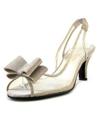 Caparros - Natural Summer Women Peep-toe Canvas Slingback Heel - Lyst