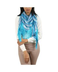 Missoni - Blue Turquoise Striped Scarf - Lyst