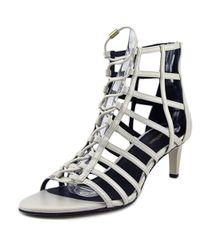Calvin Klein | Neah Mini Saffiano Women Us 8 White Heels | Lyst