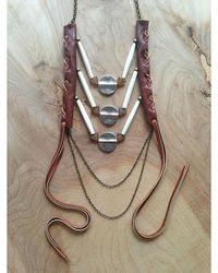 Love Leather | Multicolor Amber Sunset Necklace | Lyst