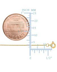 JewelryAffairs - 14k Yellow Gold Classic Mirror Box Chain Necklace, 0.45mm, 20 Inch - Lyst