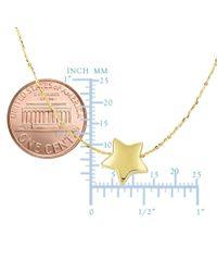 JewelryAffairs - 14k Yellow Gold Sliding Puffed Star Pendant Necklace, 18 - Lyst