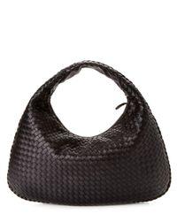 Bottega Veneta - Veneta Large Waves Hobo Bag Black - Lyst