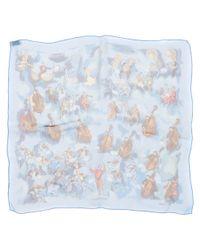 Hermès - Blue Silk Pocket Square - Lyst