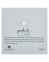 Dogeared | Metallic Pearls Of Love Silver 4.5-5.5mm Pearl Necklace | Lyst