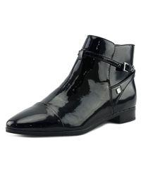 Ivanka Trump - Meria Women Round Toe Patent Leather Black Bootie - Lyst