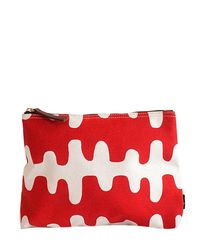 Maika - Red Echo Tangerine Print Zipper Pouch, Medium - Lyst
