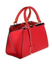 Fendi - Women's Red Leather Handbag - Lyst
