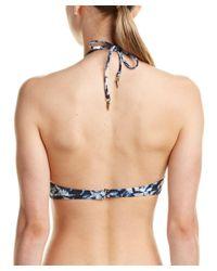 Dolce Vita - Blue Macrame High-neck Top - Lyst