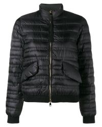 Moncler | Black Quilted Long Sleeve Jacket | Lyst