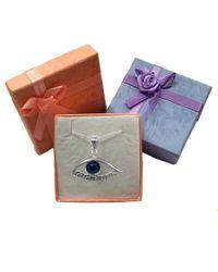 JewelryAffairs - Metallic Sterling Silver Greek Key Evil Eye Pendant - Lyst