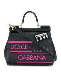 38955f2342 Lyst - Dolce   Gabbana Salar Women s Green Leather Shoulder Bag in Green