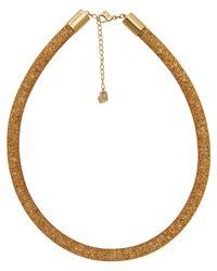 Swarovski - Metallic Crystal Stardust Plated Necklace - Lyst