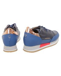 Philippe Model - Women's Blue Leather Sneakers - Lyst