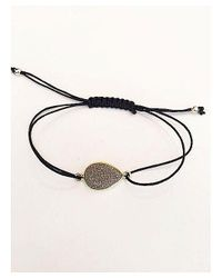 Blue Candy Jewelry - Metallic Grey Druzy Pear Bracelet - Lyst