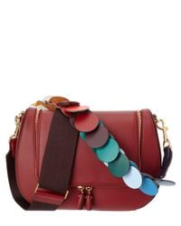 Anya Hindmarch - Red Vere Link Strap Leather Satchel - Lyst