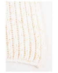 Loro Piana - Natural 1 Cream Gold Cashmere Metallic Knit Ribbed Scarf - Lyst