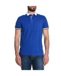MICHAEL Michael Kors - Men's Blue Cotton Polo Shirt for Men - Lyst