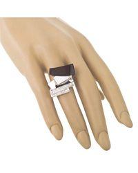 Jewelista - Black Silver, White Agate, Onyx & Cubic Zirconia Ring - Lyst