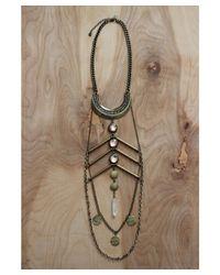 Love Leather - Multicolor Golden Paradise Necklace - Lyst