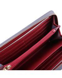 Trussardi - Gray Women's Grey Polyurethane Wallet - Lyst