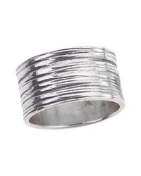 Jewelista - Gray Oxidized Sterling Silver Ring - Lyst