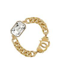 Eklexic | Metallic Octagon Pendant Bracelet (gold) | Lyst