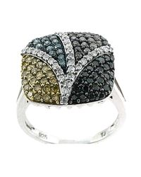 Tia Collections - Multicolor 1.15ctw Color Diamond Fashion Ring In .925 - Lyst