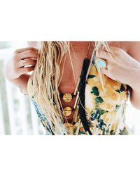 Love Leather - Multicolor Golden Rocked Necklace - Lyst