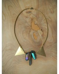Love Leather - Multicolor Disco Rock Necklace - Lyst