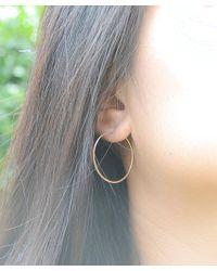 Olive Yew - Metallic 1 Inch Hoop Earrings - Rose Gold - Lyst