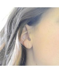 Olive Yew - Pink Baby Bar Stud Earrings - Rose Gold - Lyst