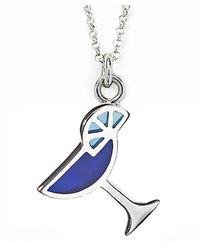 Jan Leslie - Blue Martini Glass Pendant / Charm Necklace - Lyst