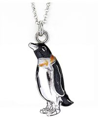 Jan Leslie | Metallic Dapper Penguin Pendant / Charm Necklace | Lyst
