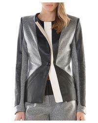 Stella & Jamie | Gray Millau Leather Jacket | Heather Grey | Lyst