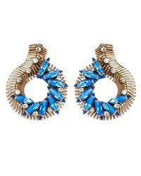 Nicole Romano - Blue Vinea Earrings - Lyst