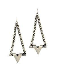 Nicole Romano - Metallic Plunge Earrings - Lyst