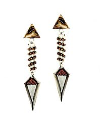Nicole Romano | Metallic Weimin Earrings | Lyst