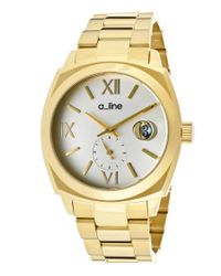 A_line | Metallic Dashuri Gold-tone Stainless Steel Silver-tone Dial Gold-tone Ss | Lyst