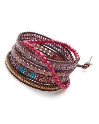 Nakamol | Multicolor Luminous Wrap Bracelet-ruby | Lyst