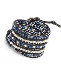 Nakamol   Multicolor Crucible Wrap Bracelet-cobalt   Lyst
