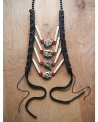 Love Leather - Multicolor Spot Rocked Necklace - Lyst