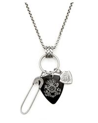 English Laundry | Metallic Safety Pin, ,guitar Pick Pendant for Men | Lyst