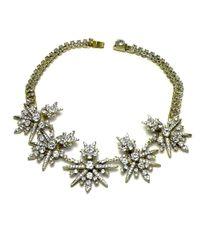 Otazu | Metallic Swarovski Crystal Starburst Necklace | Lyst