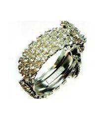 Otazu - Green Swarovski Crystal Encrusted Cuff - Lyst